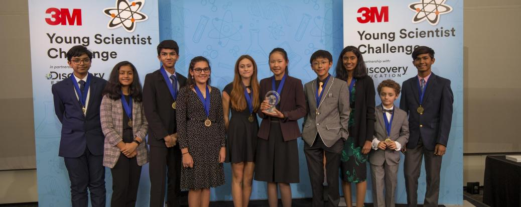 2019 Young Scientist Challenge Finalists and Winner