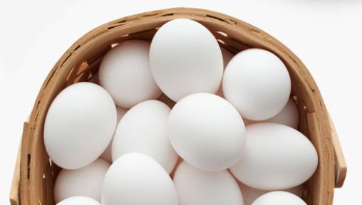 white eggs in a basket