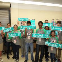Personalized street signs for the finalists!