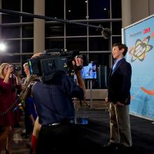 America's 2013 Top Young Scientist, Peyton Robertson meets the press