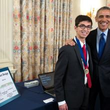 Sahil and President Obama at the 2015 White House Science Fair